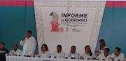 Rinde Alberto de los Santos primer informe en Coyuca de Benítez