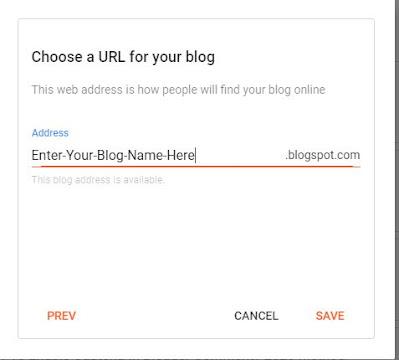 Choose Blog URL