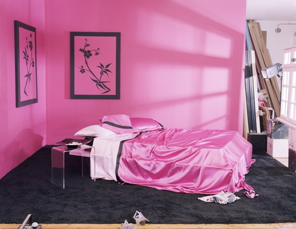 Ideas For Bedrooms Pink And Black Satin Bedroom Design