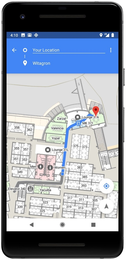 Android 9 Indoor GPS