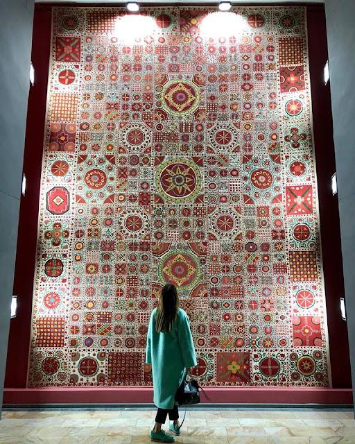 suzani uzbekistan embroidery, uzbekistan handwork embroidery suzani, uzbekistan art craft texture tours