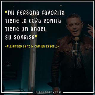 captura del video mi persona favorita de Alejandro Sanz y Camila cabello