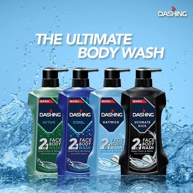 Dashing 2 In 1 Face And Body Wash: Pembersih Wajah Dan Badan Lelaki Maskulin