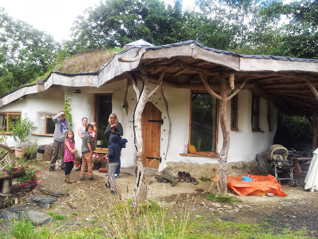 Charlie and meg's Roundhouse Eli The Hobbit House Pwll Broga Glandwr Pembrokeshire Wales