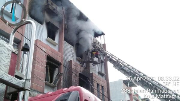 Kebakaran Maut 5 Ruko di Medan Area, 1 Orang Tewas