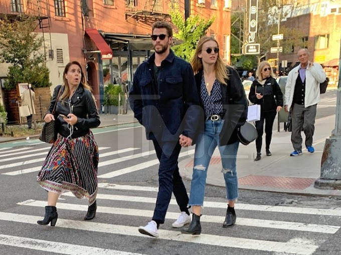 Liam Hemsworth Spotted in NYC Holding Hands with Actress Maddison Brown ( Photos)