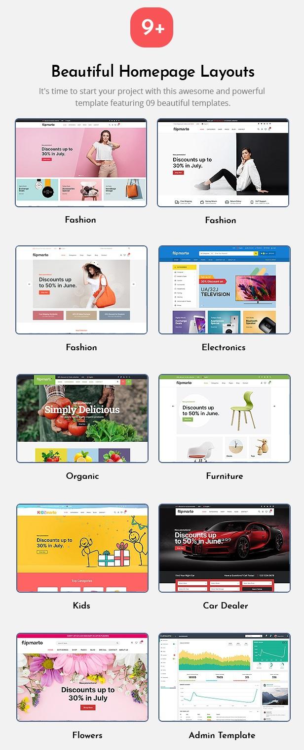 Flipmarto - Multipurpose eCommerce Bootstrap HTML Template
