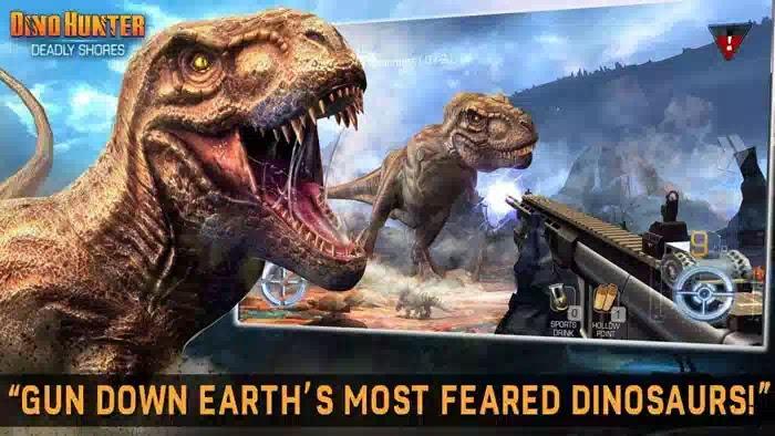 تحميل لعبة dino hunter مهكرة للاندرويد احدث اصدار