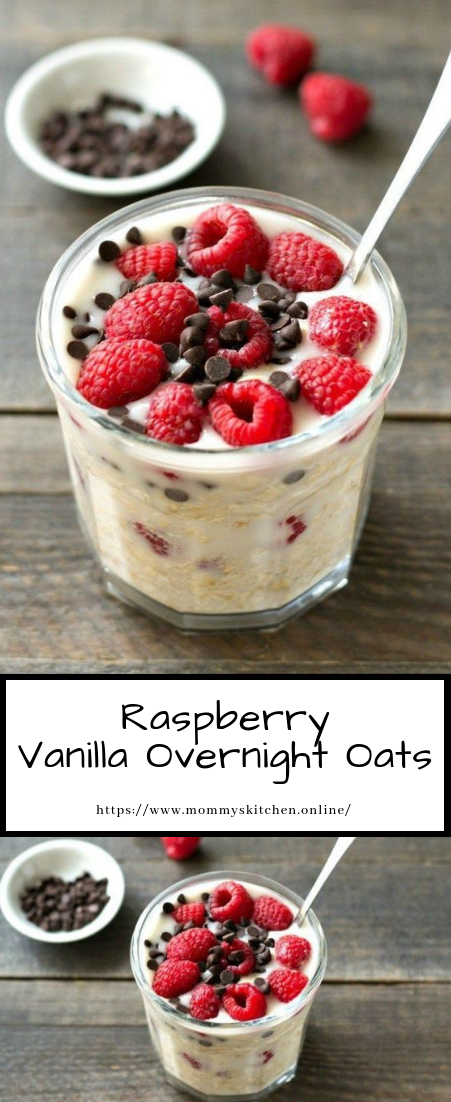 Raspberry Vanilla Overnight Oats #desserts #quickrecipe