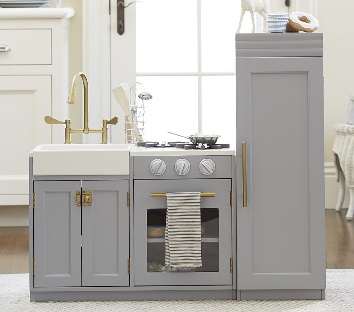Look For Less Modern Grey Toy Kitchen Pretty Real