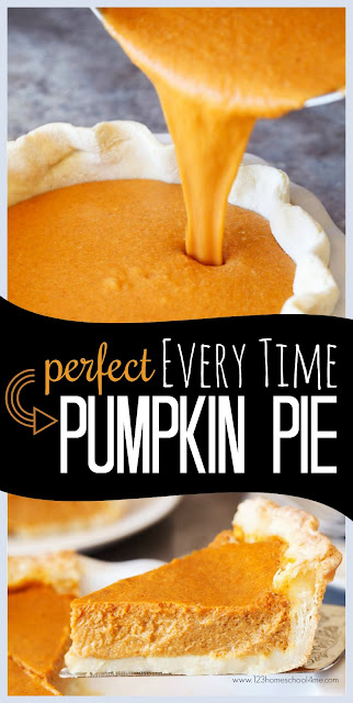 Perfect EVERY TIME Pumpkin Pie Recipe - this is the best pumpkin recipe you'll ever taste. It is an easy dessert that will come out perfectly. This homemade pumpkin pie is easy to make from scratch for thanksgiving dinner. It is the one thanksgiving recipe my family insists I made exactly the same every year.