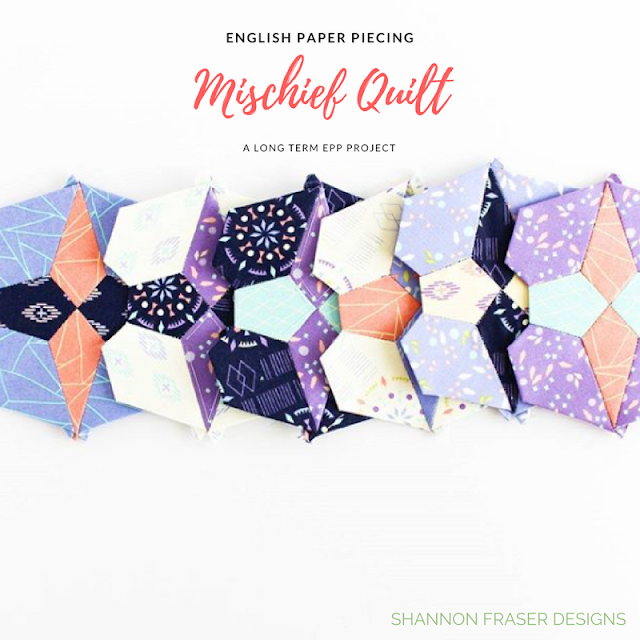 English Paper Piecing | Mischief Quilt Blocks | Shannon Fraser Designs