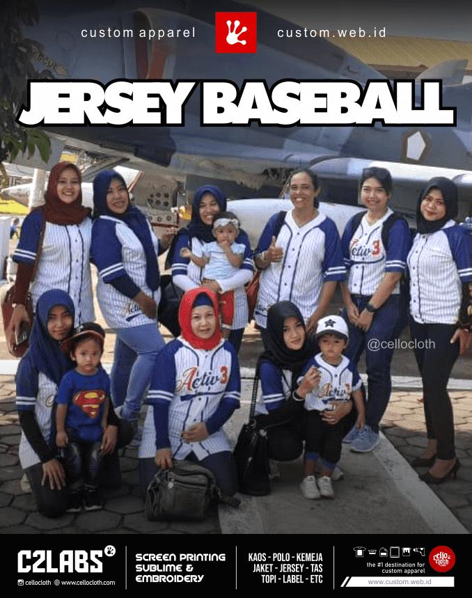 Jersey Baseball Full Printing Custom - Jersey Baseball Jogja