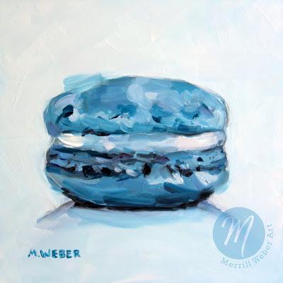 blue-macaron-oil-painting-merrill-weber