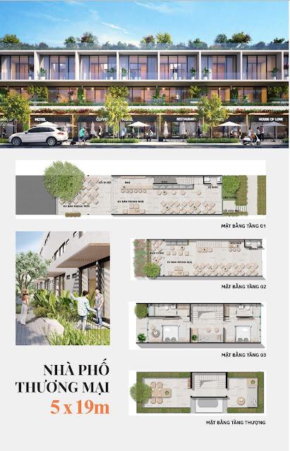 Phối cảnh nhà phố Thanh Long Bay, diện tích 5x20