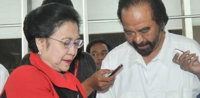Surya Paloh Kehabisan Akal Cairkan Hubungan Dengan Megawati
