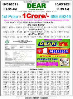 Lottery Sambad Result Morning 11:55AM