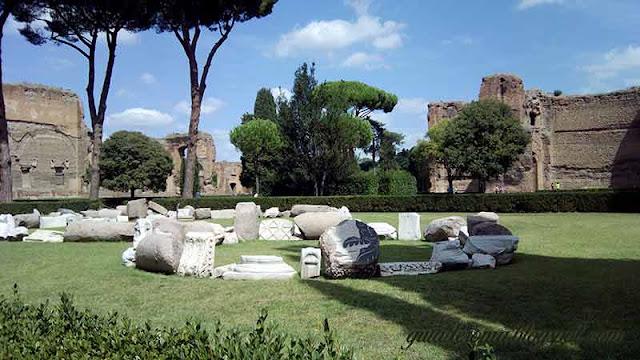 Pistotello, instalação nas Termas de Caracalla