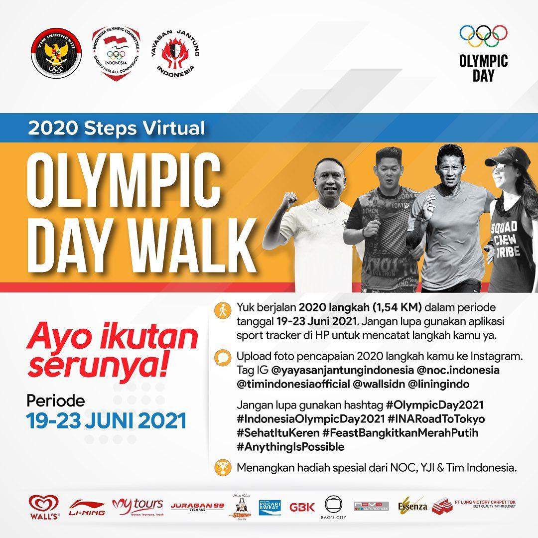 2020 Steps Virtual Olympic Day Walk • 2021