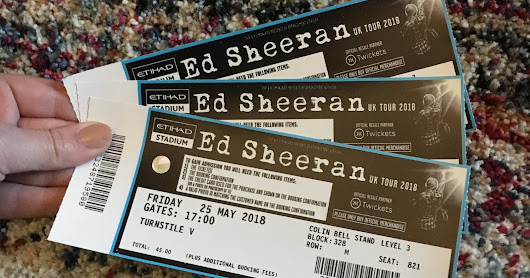 Ed Sheeran Concert (Divide Tour) at The Etihad Stadium, Manchester!