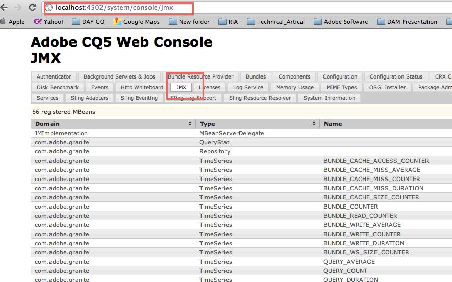 Adobe CQ/Adobe AEM: How to expose a class through JMX in CQ5 5 / WEM