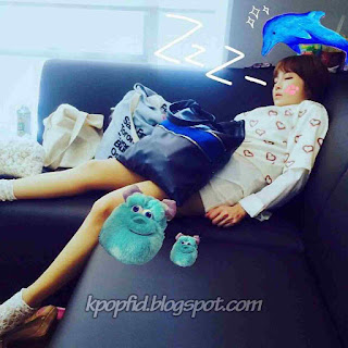 Foto Jeon Boram Sedang Tidur