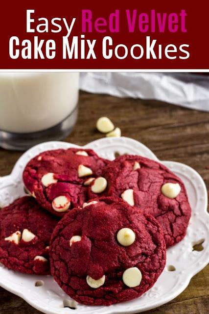 аѕу Rеd Velvet Cake Mix Cооkіеѕ #Eаѕу #Rеd #Velvet #Cake #Mix# Cооkіеѕ Cookie Recipes Chocolate Chip, Cookie Recipes Easy, Cookie Recipes Christmas,