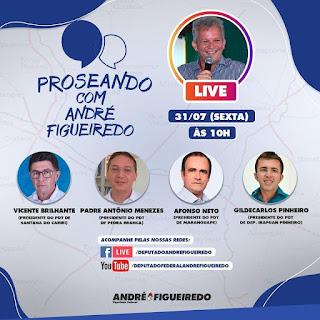 Em 8ª edição regional do Proseando, André Figueiredo conversa com representantes de Irapuan Pinheiro, Maranguape, Pedra Branca e Santana do Cariri