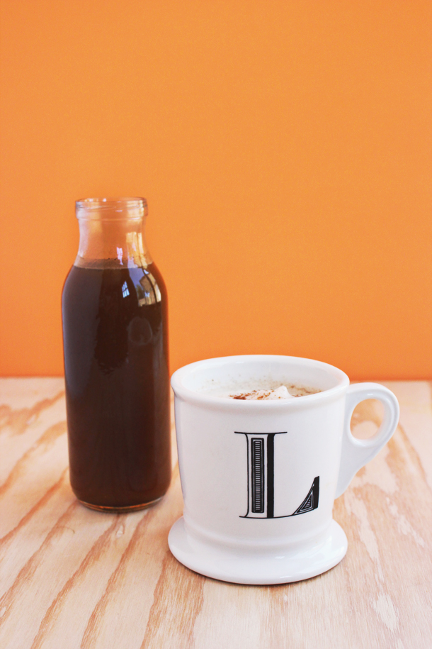 Make your own Pumpkin Spice Latte Syrup! (via laurelandfern.com)