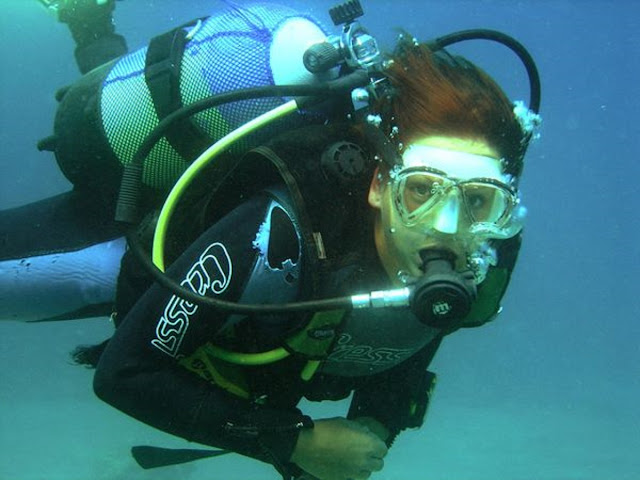 Photo of Ellis scuba diving