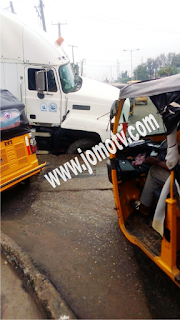 Fuel tanker accident at college busstop ikotun lagos