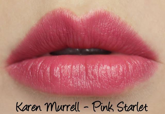 Karen Murrell - Pink Starlet Lipstick Swatches & Review