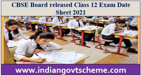 12 Exam Date Sheet 2021