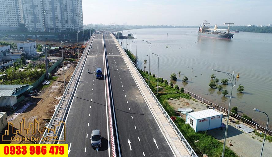 Cầu Thời Đại nối qua Đảo Kim Cương