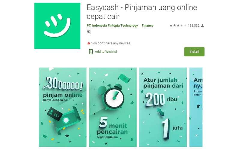 Pinjaman Online Easy Cash (teknolagi.net)