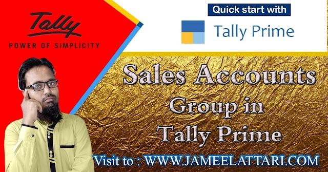 Sales Accounts Group in Tally Prime   सेल्स अकाउंट ग्रुप में कौन सी लेजर आती है