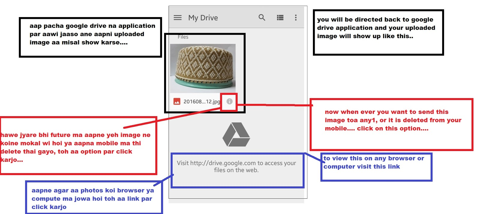 how to send video on google drive