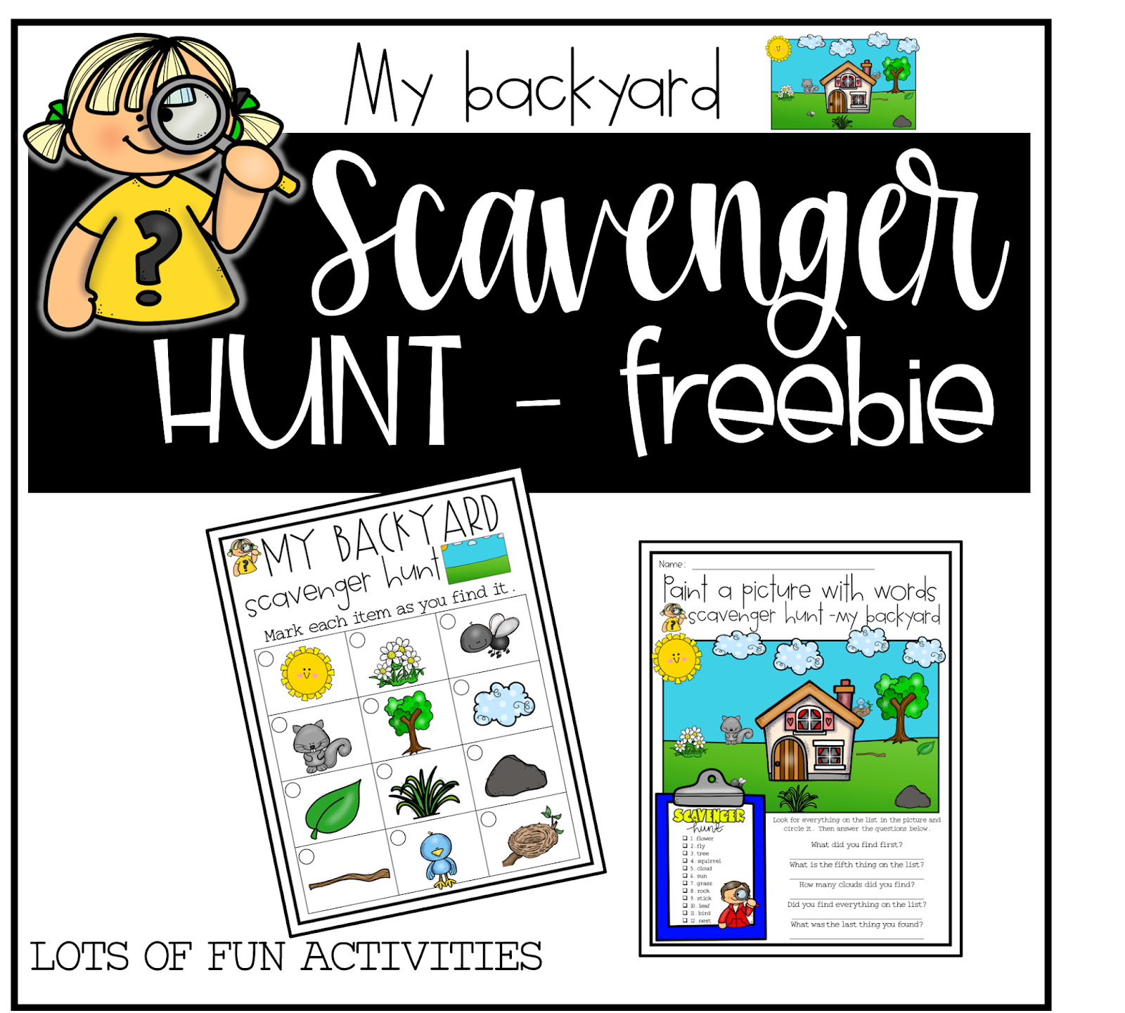 Simply Delightful In 2nd Grade 6 Sets Of Scavenger Hunts