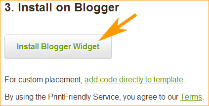 PrintFriendly - Instalar en Blogger