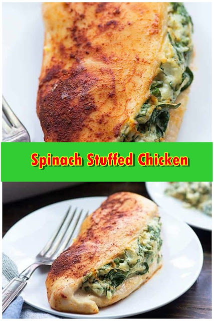 #Spinach #Stuffed #Chicken #crockpotrecipes #chickenbreastrecipes #easychickenrecipes #souprecipes