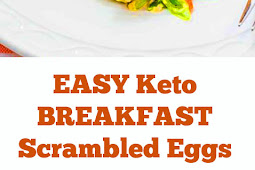 EASY Keto Breakfast Scrambled Eggs - Low Carb Recipe #ketobreakfast #scrambledeggs #scrambled #eggs #breakfast #healthybreakfast #lowcarb #keto #easybreakfast #whole30