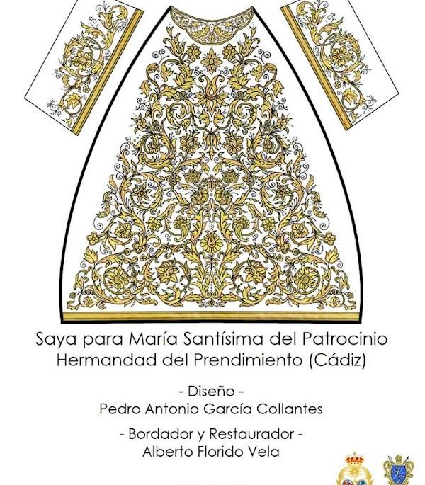 El Prendimiento de Cádiz presenta el proyecto de la nueva saya para la Virgen del Patrocinio