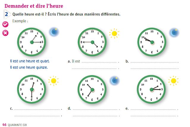 Godziny - ćwiczenie 8 - Francuski przy kawie