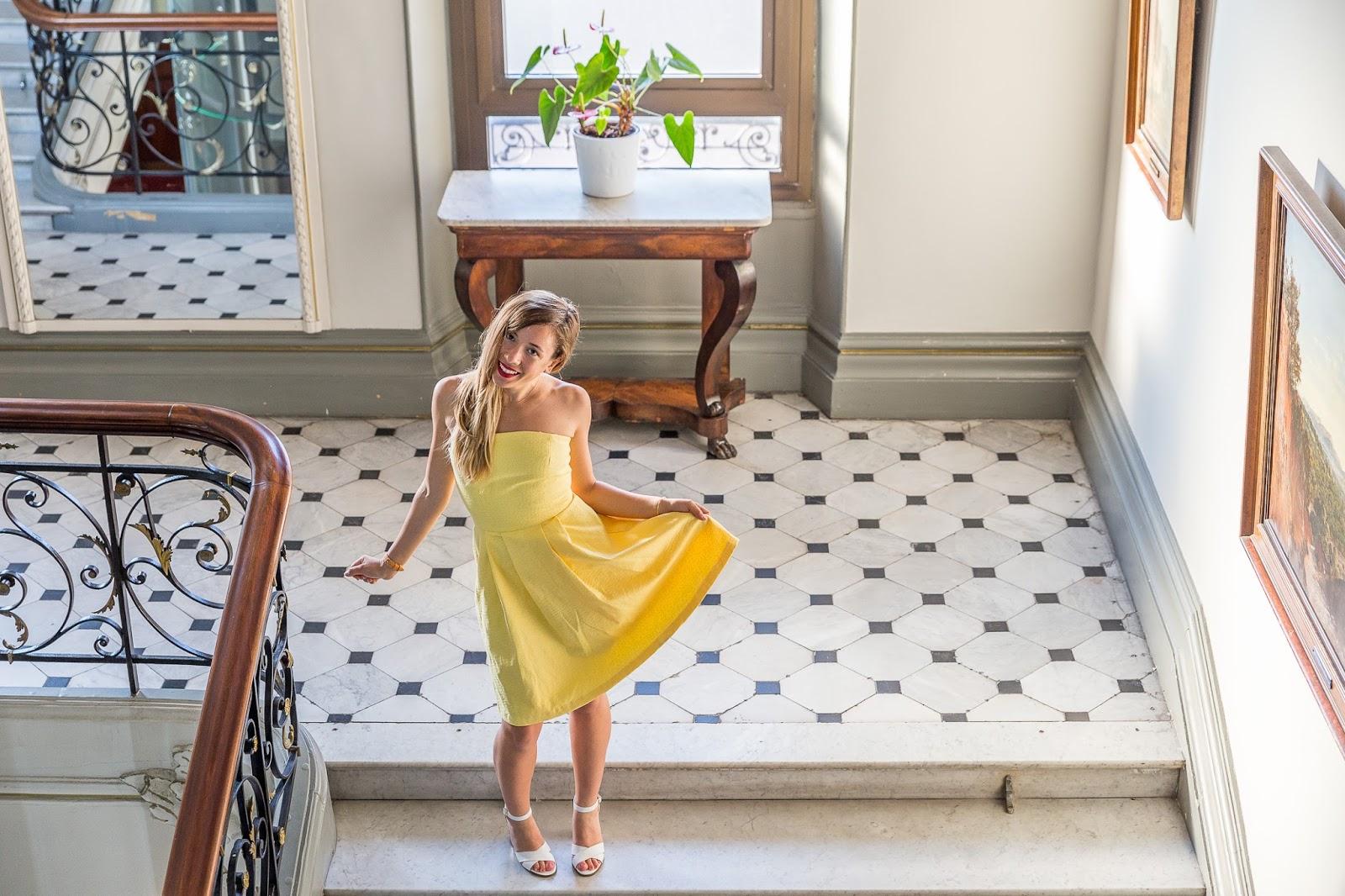 Ma robe jaune au Westminster