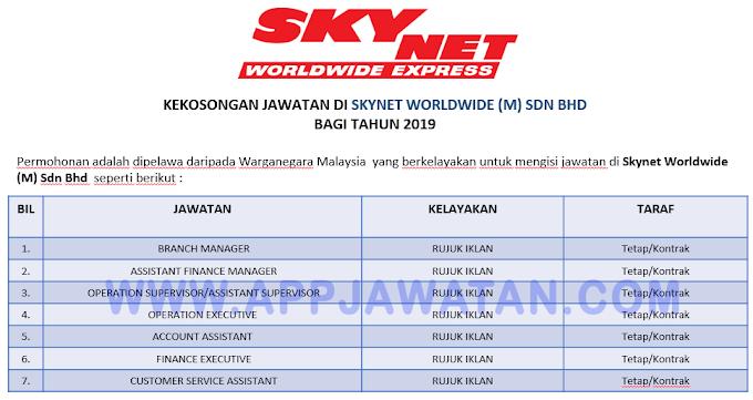 Jawatan Kosong Terkini di Skynet Worldwide (M) Sdn Bhd.