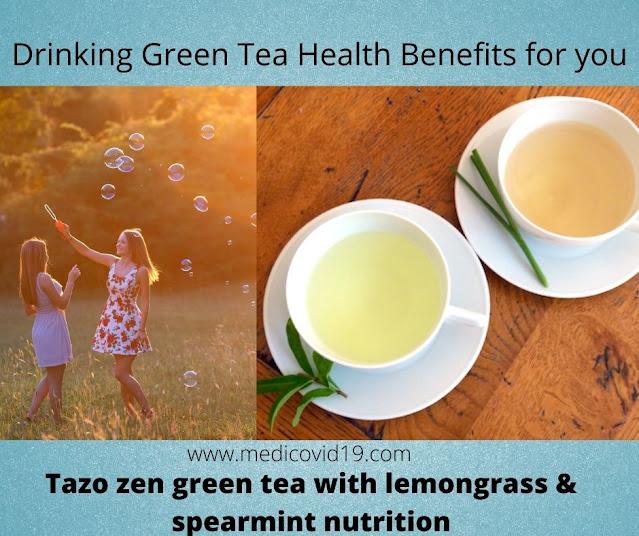 Tazo zen green tea with lemongrass & spearmint nutrition