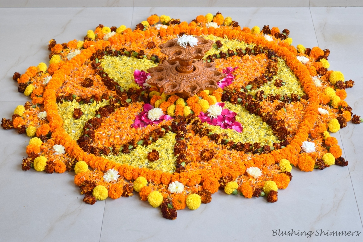 Beautiful Flower Rangoli Design