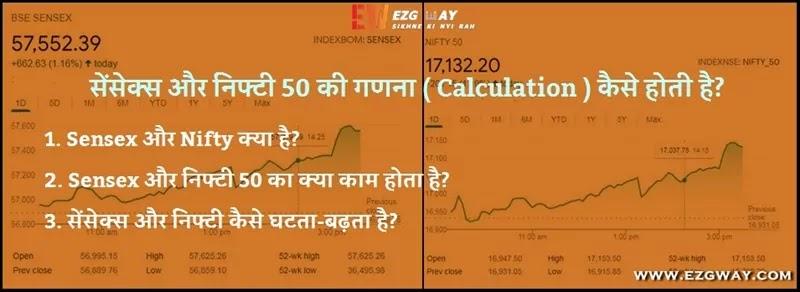 Sensex Nifty Kya Hai in Hindi निफ्टी 50 क्या है और ये SENSEX से कैसे अलग है? सेंसेक्स क्या होता है और Sensex Kaise Kaam Karta Hai हिंदी में निफ्टी और सेंसेक्स का क्या काम होता है sensex और nifty कैसे घटता-बढ़ता है