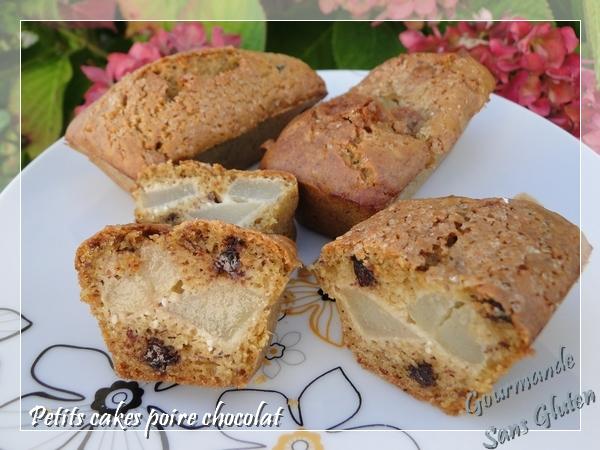 Petits cakes poires chocolat façon gâteau au yaourt sans gluten
