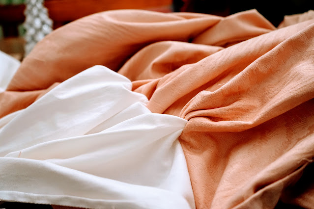 Cutting curtains for pillows